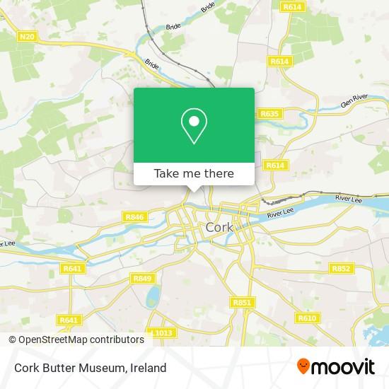 Cork Butter Museum map
