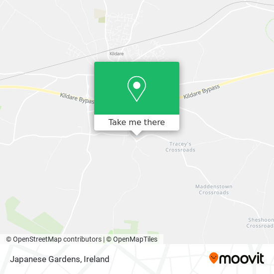 Japanese Gardens map