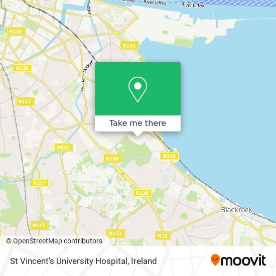 Saint Vincent's University Hospital map