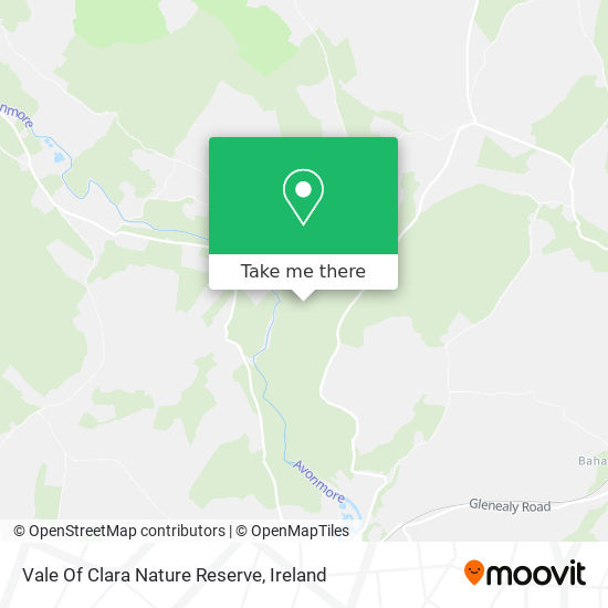 Mapa Vale Of Clara Nature Reserve