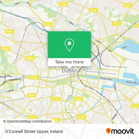 O'Connell Street Upper map