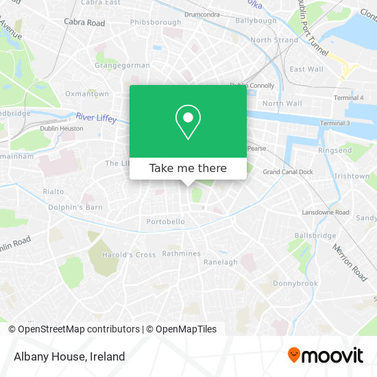 Albany House map