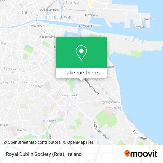Royal Dublin Society (Rds) map