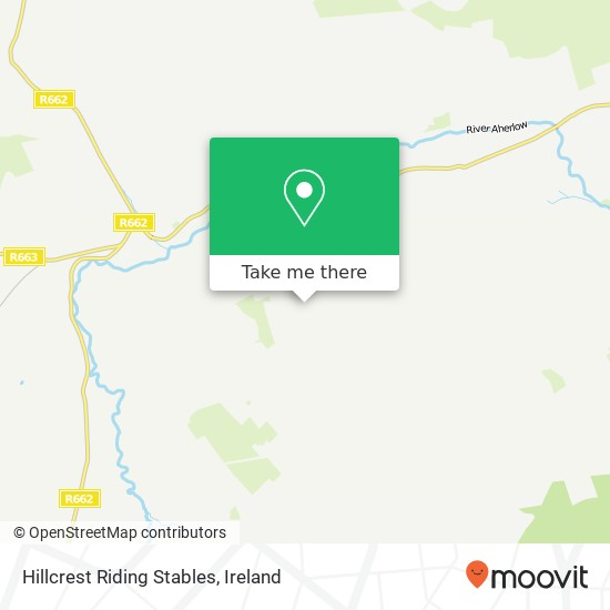 Mapa Hillcrest Riding Stables