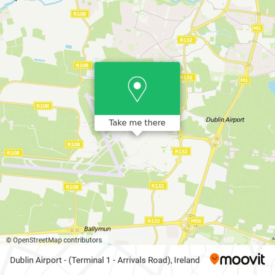 Dublin Airport - (Terminal 1 - Arrivals Road) map