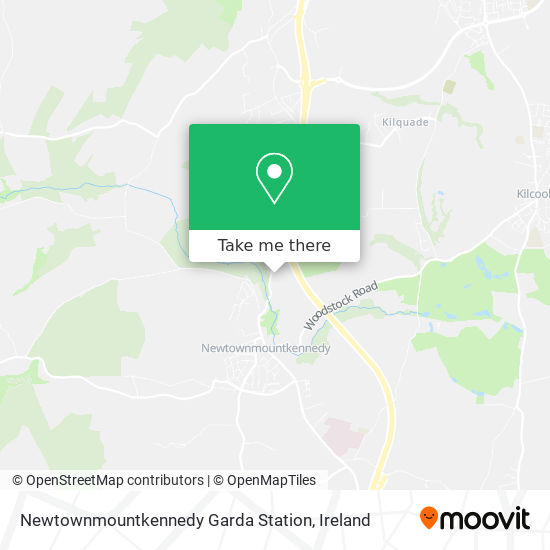 Newtownmountkennedy Garda Station map