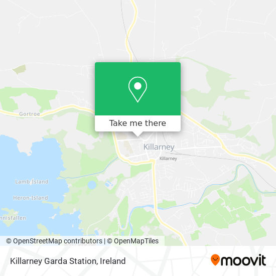 Killarney Garda Station map