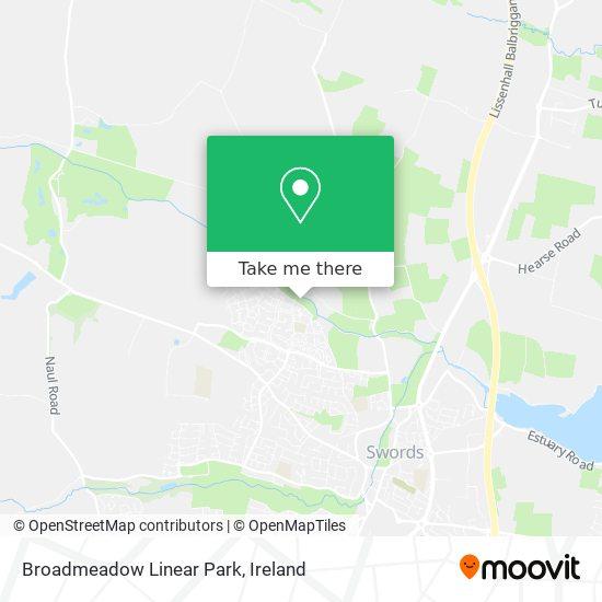 Broadmeadow Linear Park map
