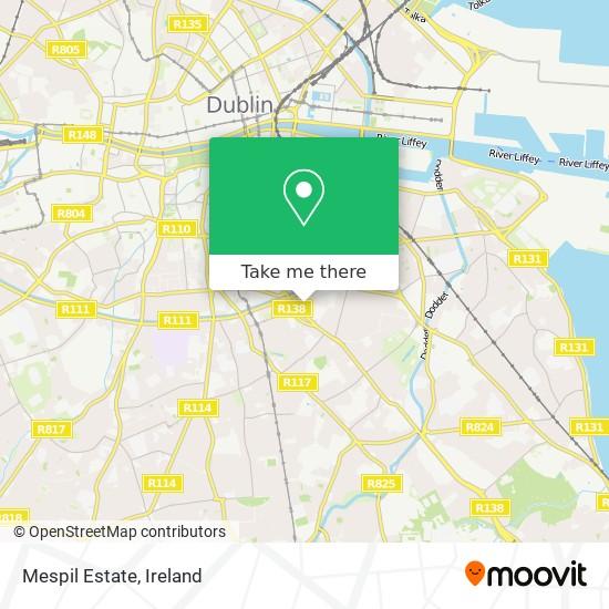Mespil Estate (Mespil Flats) map