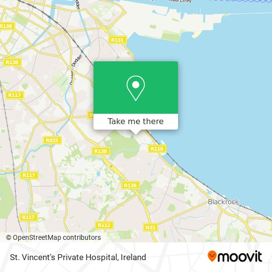 St. Vincent's Private Hospital map