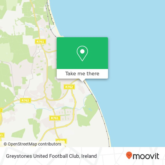 Mapa Greystones United Football Club