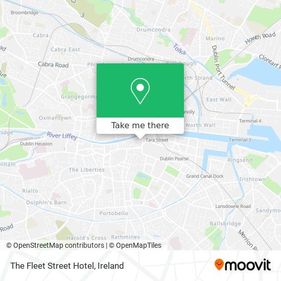 The Fleet Street Hotel map