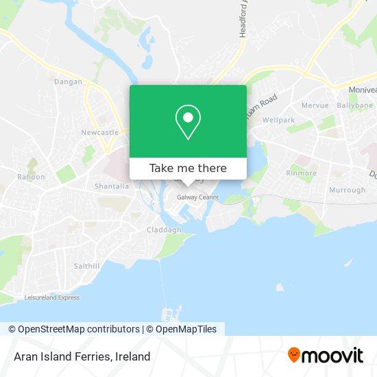 Aran Island Ferries map
