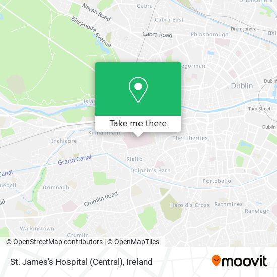 Mapa St. James Hospital (Central)