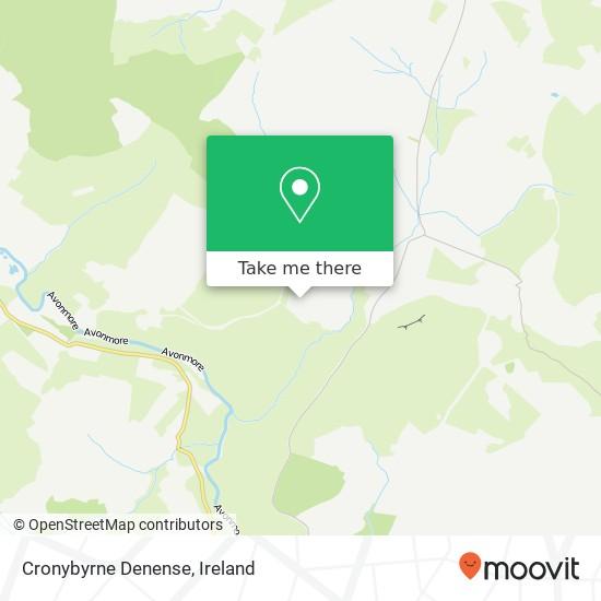 Mapa Cronybyrne Denense