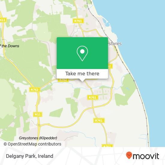 Mapa Delgany Park