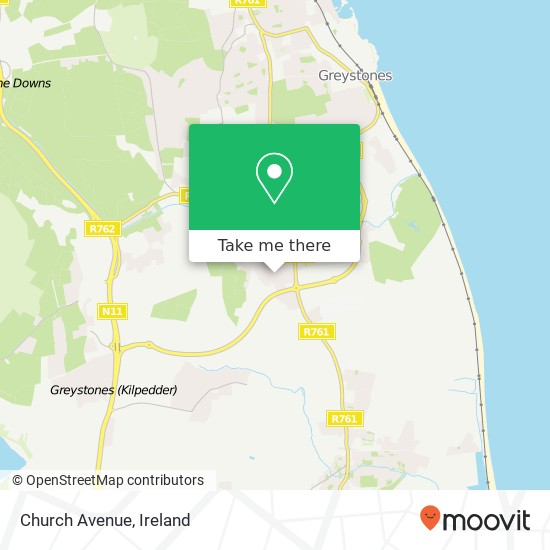 Mapa Church Avenue
