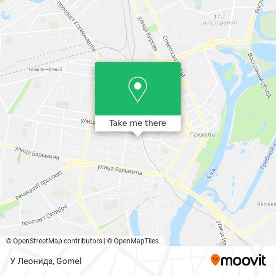 Шиномонтаж У Леонида map