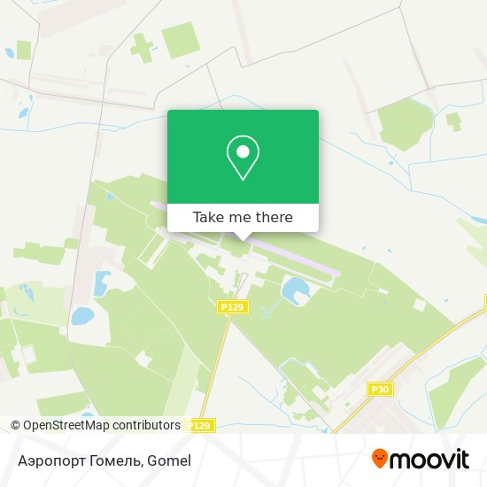 Аэропорт Гомель map