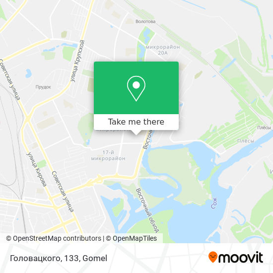 Головацкого, 133 map