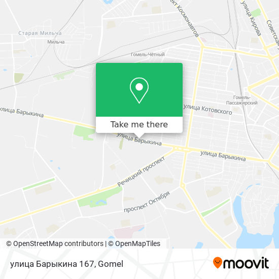 улица Барыкина 167 map