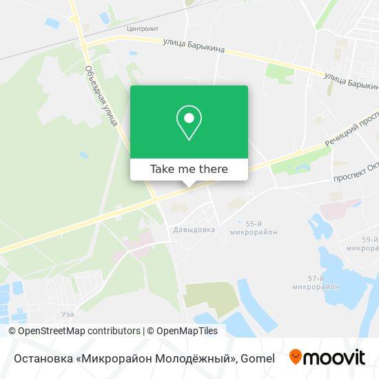 Остановка «Микрорайон Молодёжный» map