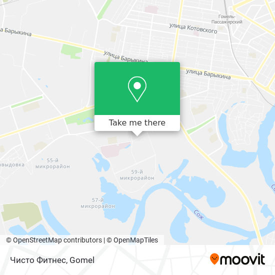 Чисто Фитнес map