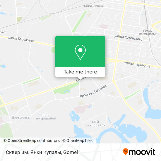 Сквер им. Янки Купалы map