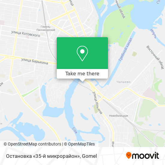 Остановка «35-й микрорайон» map