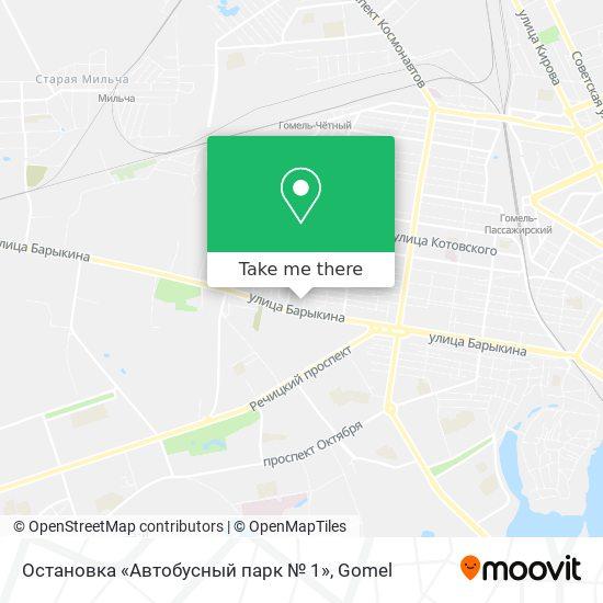 Остановка «Автобусный парк № 1» map