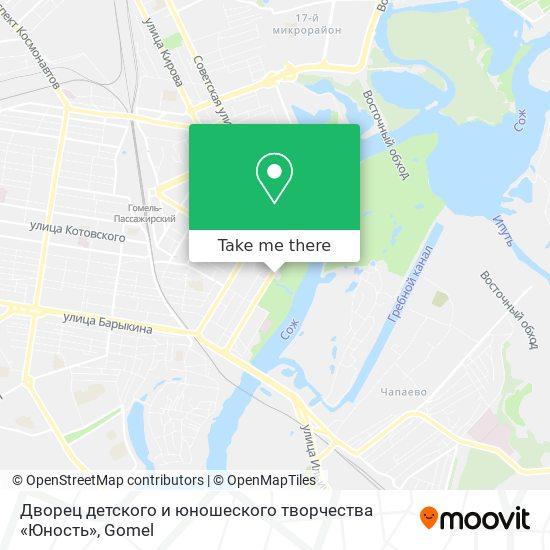 Дворец детского и юношеского творчества «Юность» map