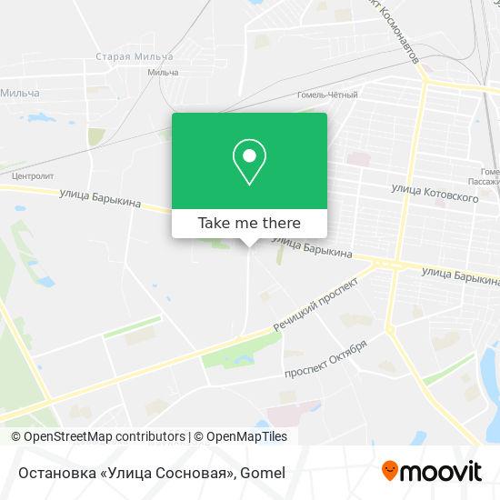 Остановка «Улица Сосновая» map