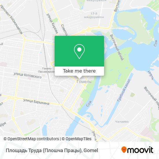 Площадь Труда (Плошча Працы) map