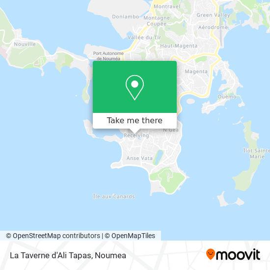 La Taverne d'Ali Tapas map
