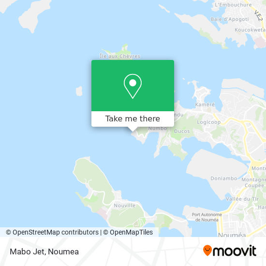 Mabo Jet map