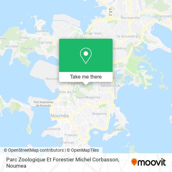 Parc Zoologique Et Forestier Michel Corbasson map