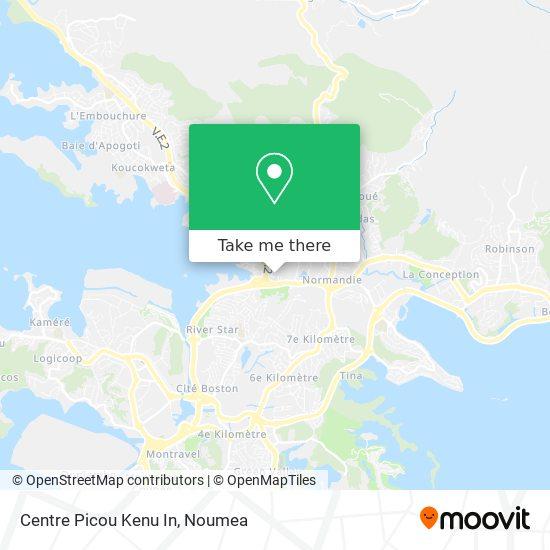 Centre Picou Kenu In map
