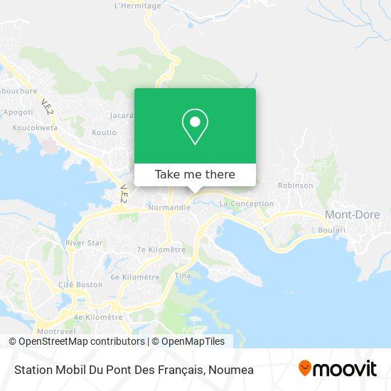Station Mobil Du Pont Des Français map