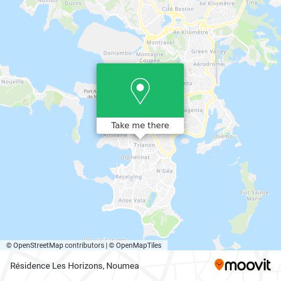Résidence Les Horizons map