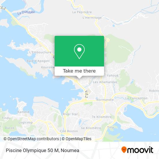 Piscine Olympique 50 M map