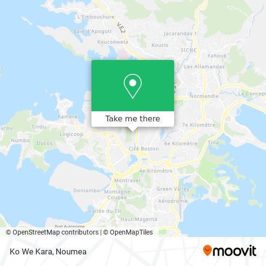 Ko We Kara map