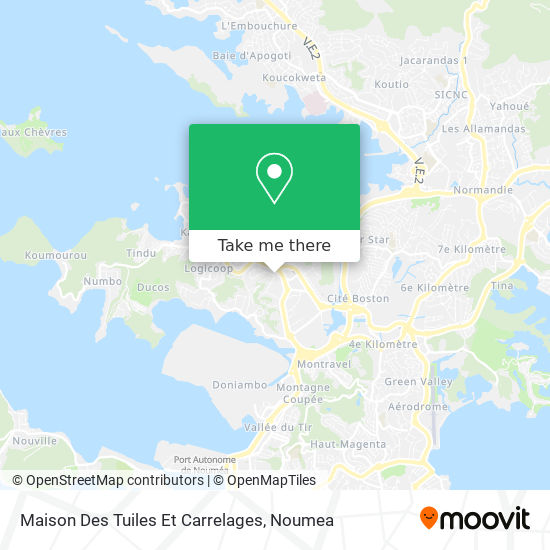 Maison Des Tuiles Et Carrelages map