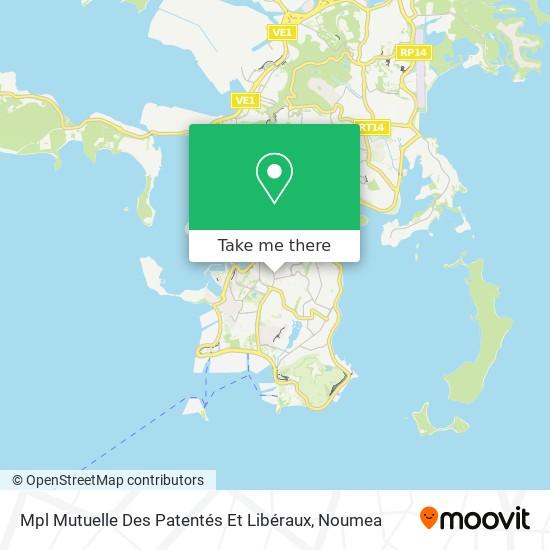 Mpl Mutuelle Des Patentés Et Libéraux map
