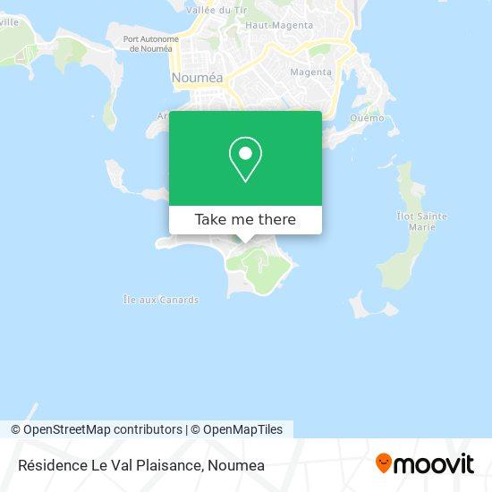 Résidence Le Val Plaisance map