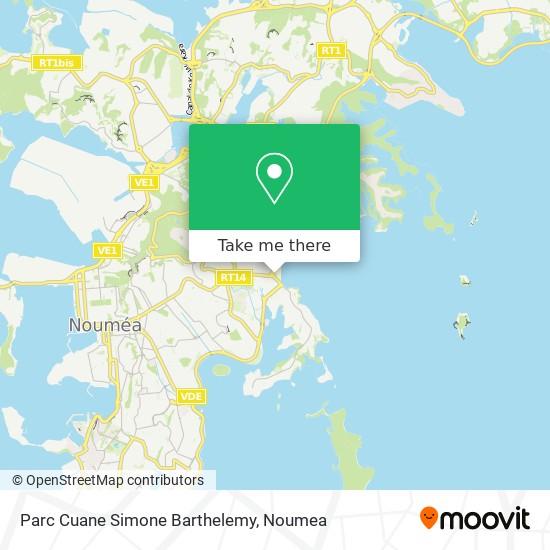 Parc Cuane Simone Barthelemy map