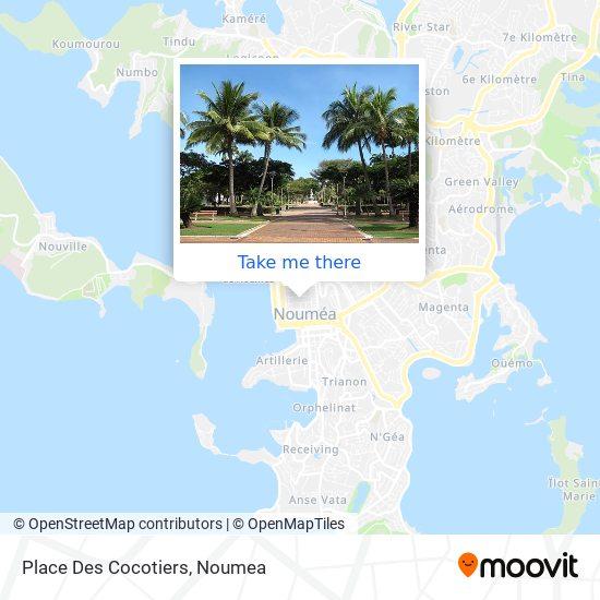 Place Des Cocotiers map