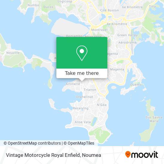 Vintage Motorcycle Royal Enfield map
