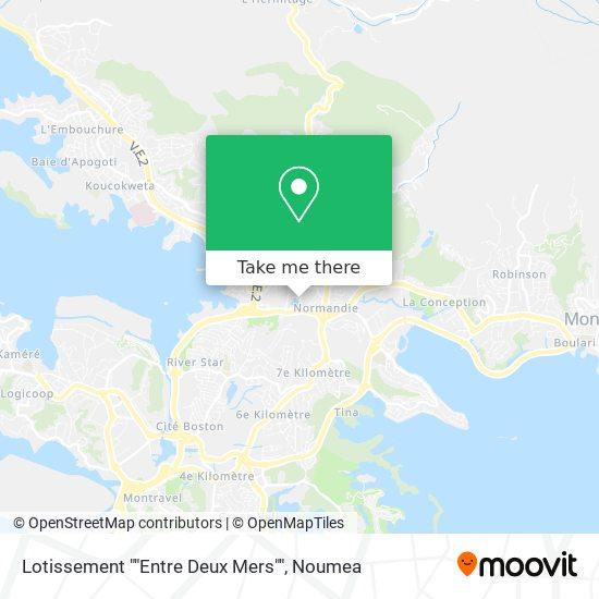 """Lotissement """"Entre Deux Mers"""" map"""