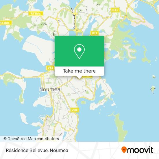 Résidence Bellevue map