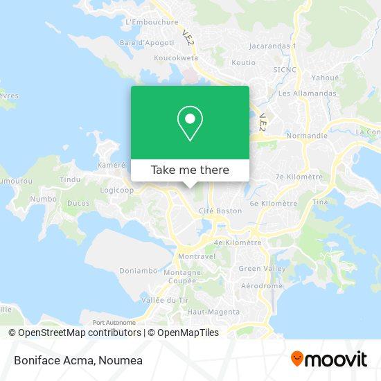 Boniface Acma map
